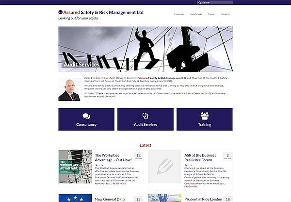 '.ASR Management.' Website Image