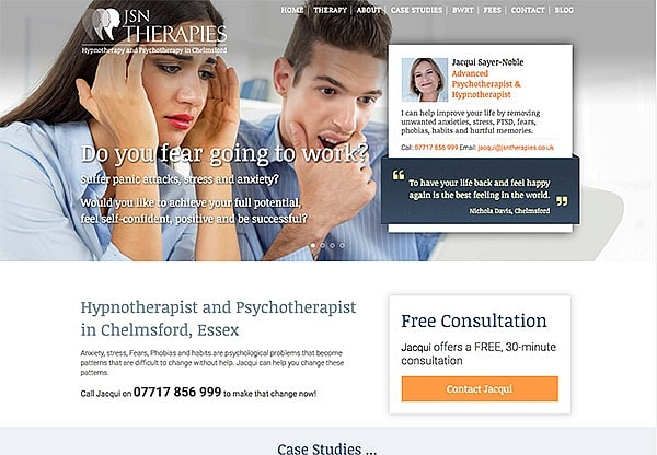 '.JSN Therapies.' Website Image