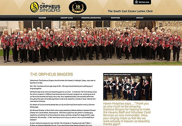 '.The Orpheus Singers.' Website Image